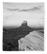 Sunset At Monument Valley, Monument Fleece Blanket