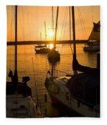 Sunset At Morro Bay Fleece Blanket