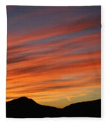 Sunset At Mt. Ord Fleece Blanket