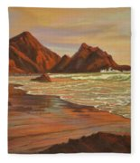 Sunset At Pfeiffer Beach Fleece Blanket