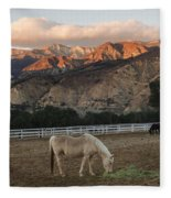 Sunset At Rancho Oso Fleece Blanket