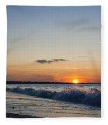 Sunset At Riva Fleece Blanket