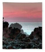 Sunset At Salt Point Fleece Blanket