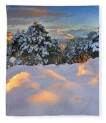 Sunset At Sierra Nevada Fleece Blanket