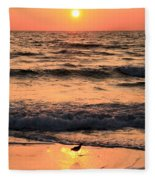 Sunset At St. Joseph Fleece Blanket