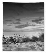 Sunset At The Mediterranean Sea Fleece Blanket