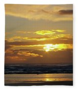 Sunset At Westport  Fleece Blanket