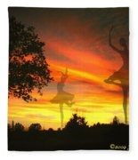 Sunset Ballerina Fleece Blanket