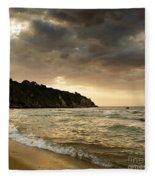 Sunset Beach Fleece Blanket