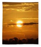 Sunset Bear Fleece Blanket