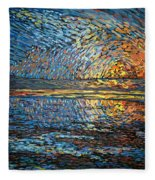 Sunset Before The Storm Fleece Blanket
