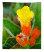 Sunset Bells Flower Fleece Blanket