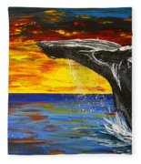 Sunset Breach Fleece Blanket