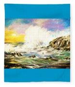 Sunset Breakers Fleece Blanket
