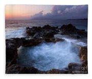 Sunset Churn Fleece Blanket