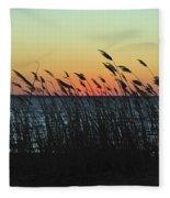 Sunset Colors Island Beach State Park Nj Fleece Blanket