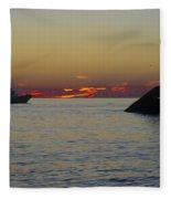 Sunset Cruise At Cape May Fleece Blanket