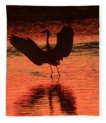 Sunset Dancer Fleece Blanket