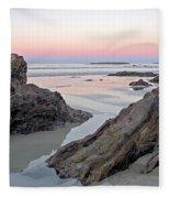 Sunset  Denhams Beach. Fleece Blanket