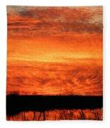 Sunset Detail  Fleece Blanket