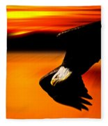Sunset Dive  Fleece Blanket