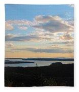 Sunset Dore Mountain Fleece Blanket