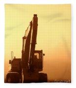 Sunset Excavator Fleece Blanket