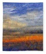 Sunset Field Fleece Blanket