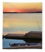 Sunset Fishing Fleece Blanket