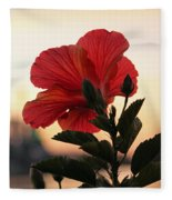 Sunset Flower Fleece Blanket