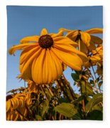 Sunset Flowers Fleece Blanket