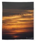 Sunset Flyby Fulton Texas Fleece Blanket