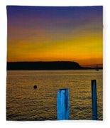 Sunset From Andersons Dock Fleece Blanket