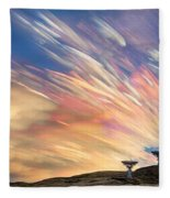 Sunset From Another Planet  Fleece Blanket