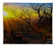 Sunset From Blood Mountain Fleece Blanket