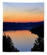 Sunset From The Deck Fleece Blanket