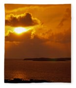 Sunset From The Dolphin Watch Cottage Fleece Blanket