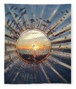 Adelaide Beach Sunset Glass Fleece Blanket
