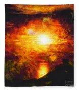 Sunset Glory Fleece Blanket