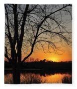 Sunset Glow Toms River New Jersey Fleece Blanket