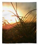 Sunset Grass 1 Fleece Blanket
