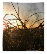 Sunset Grass 2 Fleece Blanket