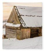 Sunset Hut Fleece Blanket