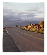 Sunset In Acadia Fleece Blanket