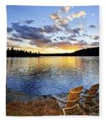Sunset In Algonquin Park Fleece Blanket