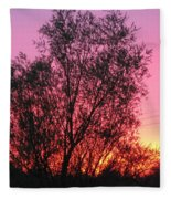 Sunset In April- Silute Lithuania Fleece Blanket