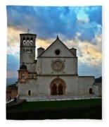 Sunset In Assisi Fleece Blanket