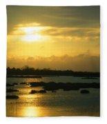 Sunset In Camargue - France Fleece Blanket