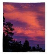 Sunset In Colorado Fleece Blanket