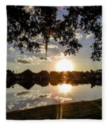 Sunset In Florida Fleece Blanket
